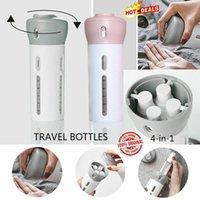 ingrosso shampoo bottiglie per doccia-4 in 1 Travel Organizer Dispenser Doccia esterna gel da bagno Shampoo bagagli bottiglia bottiglie da campeggio