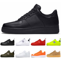 zapatos kd medio negro al por mayor-Nike Air Force 1 AF1 just do it unning para hombre mujer dunk utility Low High White black Flax orange red para hombre Zapatillas de skate Zapatillas deportivas a la venta
