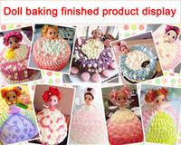 cuisson de mini-gâteaux achat en gros de-Variété de poupées dressing 12cm confus poupée bain moussant gâteau corps de bébé nu moule de cuisson moule table à dessert lol au détail