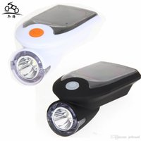 Wholesale solar bicycles for sale - Group buy 360 Degree Rotation Solar Bicycle Light USB Charge Bike Cycling Front Lamp Degree Rotation Waterproof IP64