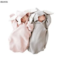 Wholesale baby rabbit clothing for sale - Group buy Milancel Blankets Envelope for Newborns Covers Rabbit Ear Swaddling Wrap Photography Newborn Baby Girl Clothes Y200109