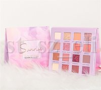 glitter schimmer makeup großhandel-Marke Augen Lidschatten-Paletten-Verfassung 18 Farben-Funkeln-Schimmer-Matte Lidschatten-Kosmetik-Palette