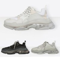 Wholesale transparent fashion shoes online - Brand Luxury Triple S Sneakers Crystal Transparent White Air Shoes Mens Womens Fashion Casual Shoe Speed Trainers Top Quality