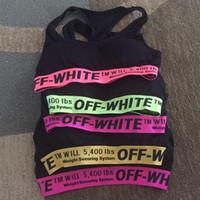 fitness yelek beyaz toptan satış-Kadınlar için tasarımcı kapalı spor sutyeni kızlar spor salonu yoga şınav kırpma üstleri beyaz renkli şeritler tank yelek tasarımcı underwear tops ücretsiz boyutu c7301