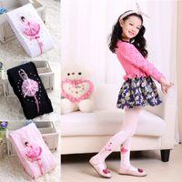 Toddler Girls Dance Socks Fashion Cotton Knit Base Stretch Jacquard Princess Embroidered Lace Socks Sweat Absorb Dance Socks 2-8T 04
