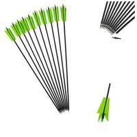 Wholesale turkey feathers arrow resale online - Archery Carbon Arrows Turkey Feathers Spine Carbon Arrow For Compound Bow Outdoor Training Shooting Accessories Hunting Sports