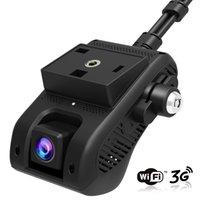 автомобильный удаленный dvr оптовых-JC200 Edgecam Pro 3G Автомобильный видеорегистратор черточки Camra автомобиля Автомобиль камера с HD 1080P Двойная камера GPS Tracker дистанционного мониторинга Live Streaming (Розница)