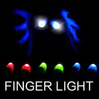пальцем свет магический трюк оптовых-Подсветка Большие пальцы Подсказка для большого пальца Волшебные трюки Электронные светодиодные фонари Мигает пальцами