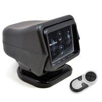 foco controlado remoto com controle remoto sem fio venda por atacado-1Pcs 60W DC 12 / 24V LED Searchlight sem fio Spotlight Controle Remoto para Veículos Barco Car Wrangler feixe