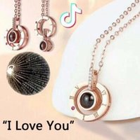 Wholesale titanium metal jewelry for sale - 4 Styles Languages I Love You Pendant Necklaces Projection Necklace Wedding Gift Valentine s Day Gifts Kids Jewelry CCA11154