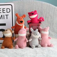 rindo animais venda por atacado-Agradável criativa aberto Plush Toy Animal dos desenhos animados aberto pequena boneca Rindo Tooth boneca presente de aniversário bonito boneca