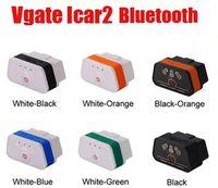 vgate icar2 bluetooth toptan satış-Orijinal ELM327 Bluetooth ICar 2 Kendi Kendini Tanı OBDII BT Dedektörü Vgate Icar2 OBD Elm327 Bluetooth OBD2 Profesyonel Çözüm