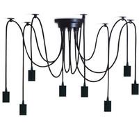 luminária pendente de luz negra venda por atacado-Preto E27 Retro Pingente de Luz Industrial Do Vintage Edison Lâmpada Do Teto De Jantar Iluminação Industrial pendurado lâmpadas Edison luminária Pingente