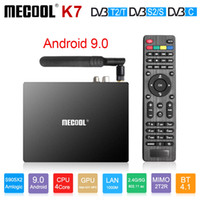 ingrosso dvb t2 smart tv box-Mecool K7 Android 9.0 Smart TV Box DVB-T2 / S2 / C Amlogic S905X2 4GB64GB DDR4 2.4G / 5G WIFI K7 Smart TV Box