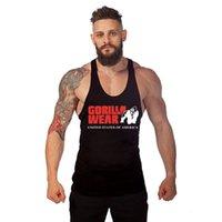 gorilla tanks großhandel-GORILLA WEAR Fitnessgeräte Markenkleidung Bodybuilding Fitness Männer Tank Top Gorilla Wear Druck Weste Stringer Sportswear Tank Top