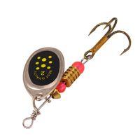 anzuelos de pescado al por mayor-10pcs Multicolor 6cm 3.5g Spinner Hook Ganchos de pesca 6 # Gancho Cebos de metal Señuelos Cebo artificial Accesorios de pesca