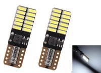 Wholesale 12V V No polarity Canbus T10 LED bulbs with SMD leds Interior Light W5W LED LAMP white blue NO OBC ERROR