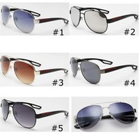 Wholesale women fashion frame shade sunglasses for sale - Group buy Metal Sunglasses for Men and Women Dark Lens Glasses Goggles Fashion Brand Designer Sunglasses Designer Eyeglasses Driving Glasses Shades