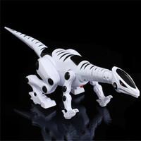 robôs de passeio de brinquedo venda por atacado-Dinossauro Elétrico para Crianças Andando Robô Rugindo Dinossauro Interativo Brinquedo com Música Luz e Efeitos Sonoros Brinquedo Inteligente