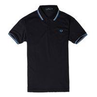 polo de poliester al por mayor-Marca de polo de los hombres Camisa de polo de lujo Camisa de ocio para hombres 2018 Nueva moda Poliéster Sólido Camisa Casual Loose Summer Sport Tees Plus Size S-4XL