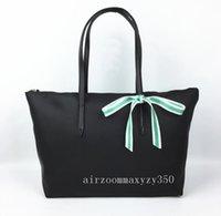 yay totes toptan satış-Yeni Yay Dantel Moda Katlanır Paket Naylon Omuz Çantaları Bayan Lacos Kadın Kılıf Kadın le hobos çanta Çanta