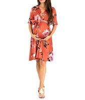 vestidos de maternidad para el verano caliente al por mayor-Maternity Dresse hot Summer Nuevos vestidos para mujeres europeas y americanas con ancho de banda suelto e impresión de manga media para mujeres embarazadas