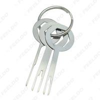 kit de chaves automáticas venda por atacado-3pcs atacado Terminal Car Fiação Crimp Connector Extractor Pin Removel Key Ferramenta Terminal Auto Kit Ferramenta de Remoção # 5754