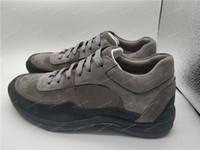 ingrosso scarpe in pelle scamosciata mens-Luxury Designer Sneaker Platform Scarpe da ginnastica in pelle scamosciata pelle di vitello Scarpe da donna per il tempo libero Scarpe in vera pelle moda colore misto con scatola