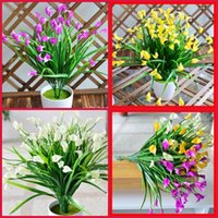 Wholesale silk lilies for sale - Group buy Plastic Decorative Flowers Calla Lily Simulation Bright Colors Durable Tasteless Eco Friendly Silk Flower New Arrival wm E1