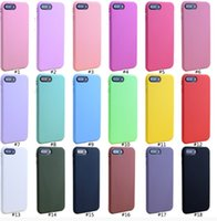 Wholesale frost paintings resale online - For iPhone X Mobile Phone Shell Case Matte Frosted Soft Cases TPU Candy Color Painted Protective Back Cover For iPhone Plus Plus