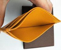 deri noktalar toptan satış-Y Dot Tasarımcı Klasik Lüks Ünlü Erkekler Kadınlar Gy Kredi Kartı Tutucu Gerçek Deri Cep Mini Cüzdan ile Kaplamalı Tuval Ile kutu
