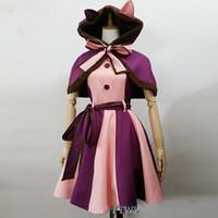 sıcak kedi kostümleri toptan satış-Sıcak Alice In Wonderland Kostüm Cheshire kedi Cosplay Fantezi Elbise Kadın Cadılar Bayramı Kostümleri Parti Alice Kostüm