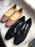 ingrosso cunei di prua neri-2019 Marca Dress Shoes Women Office Ladies Pompe a tacco basso Bow Black Wedges Comode tacchi Pompe da donna da lavoro formale della mamma