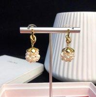 pendientes de uva al por mayor-Diseñador de joyas para mujer PRECLOUS pendientes de lujo chapados en oro de 18 k nudos perla pendientes de uva verano nuevos productos