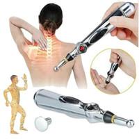 ingrosso penna di massaggio elettronico di energia del meridiano di agopuntura elettronica-2019 Nuova penna elettronica per agopuntura Meridiani elettrici Terapia laser Terapia di massaggio curativa Meridian Energy Pen Rilievo Strumenti per il dolore