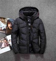 mangas destacáveis para baixo jaqueta venda por atacado-Nova marca clássico Keep Warm Jacket North Down homens inverno curto destacável Cap Thicken Moda Jovem Branco Pato Rosto xxf682 Brasão Sleeve