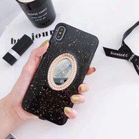 ingrosso flash casi 3d-YunRT fashion gold foil flash Custodia per cellulare specchio trucco perla 3D per iPhone 6 6s 7 8 plus x xr xs max glitter modello custodia morbida
