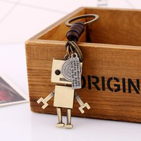 Wholesale giraffe key ring resale online - Baseball Cap Keychain Movable Robot Giraffe Owl Heart Key Chain Key Rings bag hangs fashion jewelry will and sandy gift