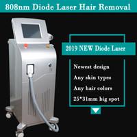 pele congelada venda por atacado-Remoção permanente do cabelo da pele do gelo da máquina da remoção do cabelo do laser do diodo 808nm com punho do NÃO-CANAL remoção do cabelo do laser de 20 milhões de tiros