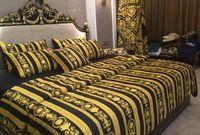 Wholesale bedding comforter set black resale online - Cotton Luxury Design Branded Black Bedding sets king size Quilt cover pillow case queen size duvet cover designer bed comforters sets