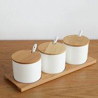 банки для хранения приправы оптовых-Простая жизнь Creative Ceramics кухня контейнеры для пищевых продуктов органайзер банки для специй сахарница приправа ящик для хранения кухни бутыли