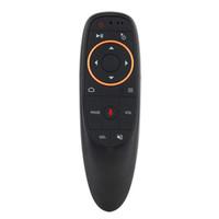 microphones ir achat en gros de-G10 Voice Remote 2.4GHz Voice sans fil Google Microphone Télécommande intelligente IR Learning pour Android TV Box PC