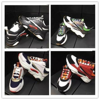 Wholesale styles white shoes for man resale online - Red and white technical knit black calfskin trainer Homme logo summer sneaker boutiques style designer shoes for mens women k3
