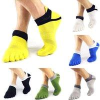 пальцевые носки для мужчин оптовых-1Pairs 38-43 Outdoor Men's Breathable Cotton Toe Socks Pure Sports Comfortable Jogging cycling running 5 Finger Toe Sock