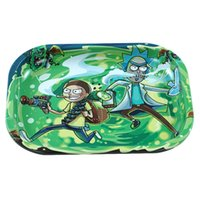 Wholesale trays for sale - Group buy New Cartoon Rolling Tray Large Size metal Tray Silicone Tobacco Flower Herb for smoking pipes