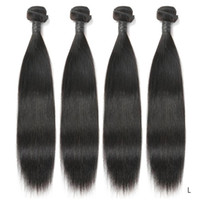 Wholesale brazilian virgin hair extentions for sale - Group buy Brazilian Straight Hair Bundles Human Weave Bundles Long Hair Extentions Remy Bundles
