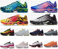 Wholesale new spring running shoes resale online - 2020 New Tn Plus GS Greedy SE OG CQ Decon Pack Mercuiales Running Shoes Mens Women Trainers Chaussures Blue Fury Sport Sneakers Size