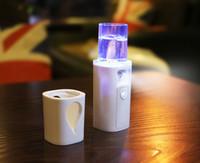 névoas do corpo venda por atacado-Dropshipping Portátil Nano Névoa Pulverizador Hidratante Facial Corpo Cuidados Com A Pele Mini USB Face Spray de Beleza Instrumentos Com Espelho