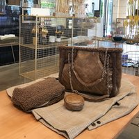 Wholesale bag lamb for sale - Group buy New fall and winter winter wool lamb big bag fashion casual shoulder diagonal handbags fur bag Tote
