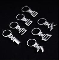 Wholesale keychain x for sale - Group buy Fashion Zinc Alloy Metal Car Logo key ring keyring keychain key chain Car Styling for BMW auto X Key Holder
